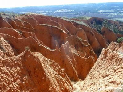 Cárcavas Alpedrete de la Sierra y Cerro Negro; singles vacaciones viajes organizados a madrid sende